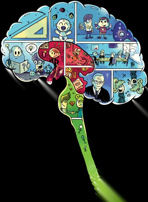 """Mózg z komiksu """"Był sobie mózg"""""""