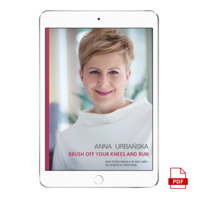 "E-BOOK W JĘZYKU ANGIELSKIM | Anna Urbańska ""Brush off your knees and run"""